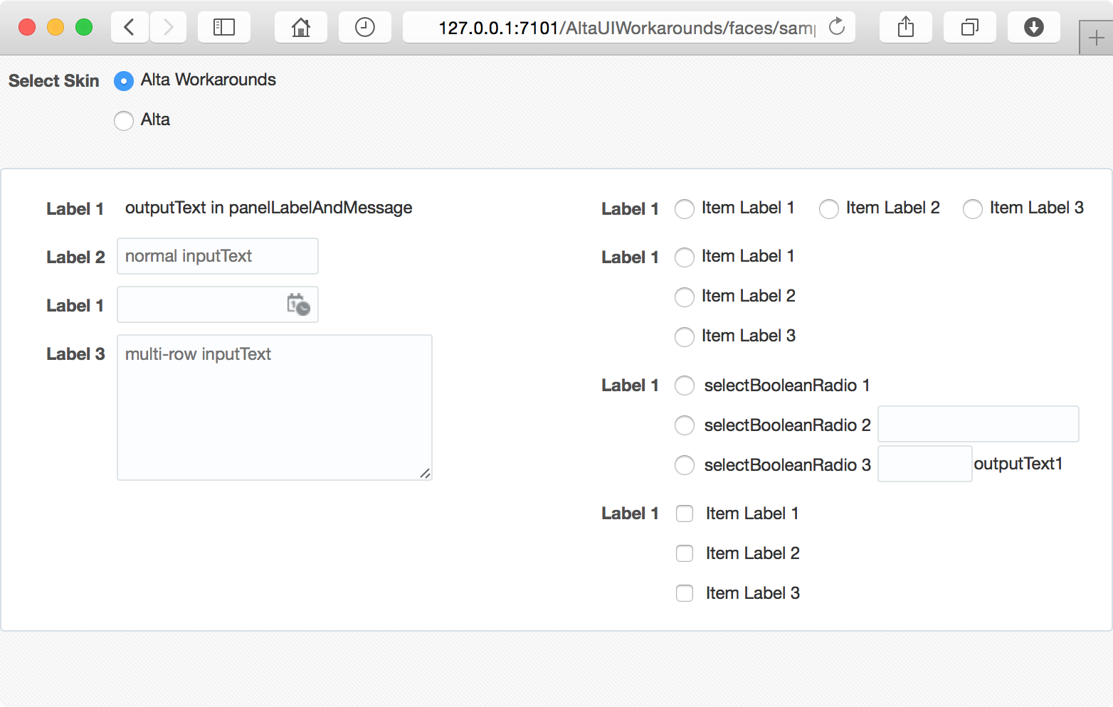 Image: panelFormLayout with Alta UI Workarounds