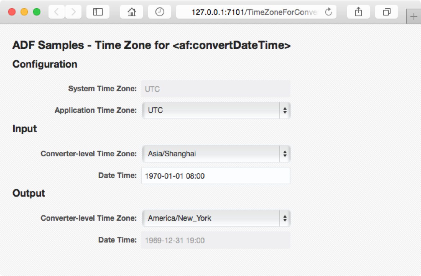 Image: ADF Samples - Time Zone for af:convertDateTime
